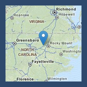 Map to NC Outdoor Adventures