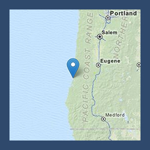 Map to Umpqua Dunes